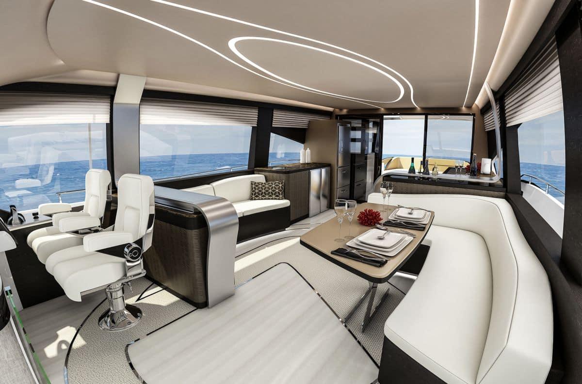Роскошная Lexus яхта LY 650 изнутри